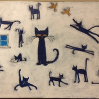 pete the cat oil painting